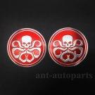 2pcs Aluminum Octopus Hydra Logo Marvel Car Trunk Decal Sticker Badge Emblems