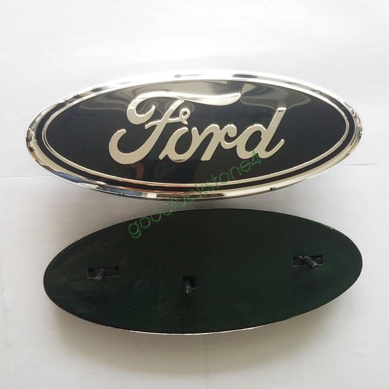 "9"""""""" Black FORD F150 F250 F350 Front Grille Tailgate Oval Nameplate Emblem Badge"
