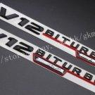 """2pcs Black """"""""V12 BITURBO ///AMG """""""" Letters Trunk Badge Emblem Sticker for Benz AMG"""