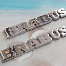 2x Metal BRABUS Logo Car Emblem Badge Decal Sticker Badge SLK E S G CLS M Class