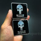 2pcs Aluminum Punisher Logo Car Body Side Trunk Decal Sticker Badge Emblem Motor