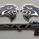 3pcs Metal Emblem Badge Decal Sticker Dodge SRT Hellcat Challenger Charger Mopar