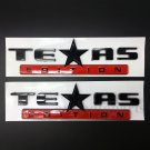2pcs Texas Edition Star Flag Car Auto Body Side Emblem Badge Decal Sticker ABS