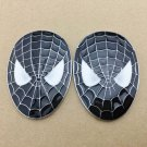 2pcs Metal Spiderman Logo Mask Emblem Car Motorcycle Badge Trunk Decal Sticker