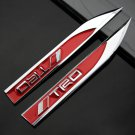 2X Auto Car Metal Knife Badge Emblem Decal Sticker For Red TRD Racing Sport Gift