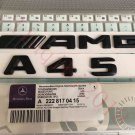 "Matt black """" A45 + AMG """" Letters Trunk Emblem Badge Sticker for Mercedes Benz"