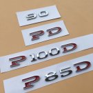 Emblem Word P100D PD 60 75 85 90 100 Badge P90D Decal for Tesla Model S Model X