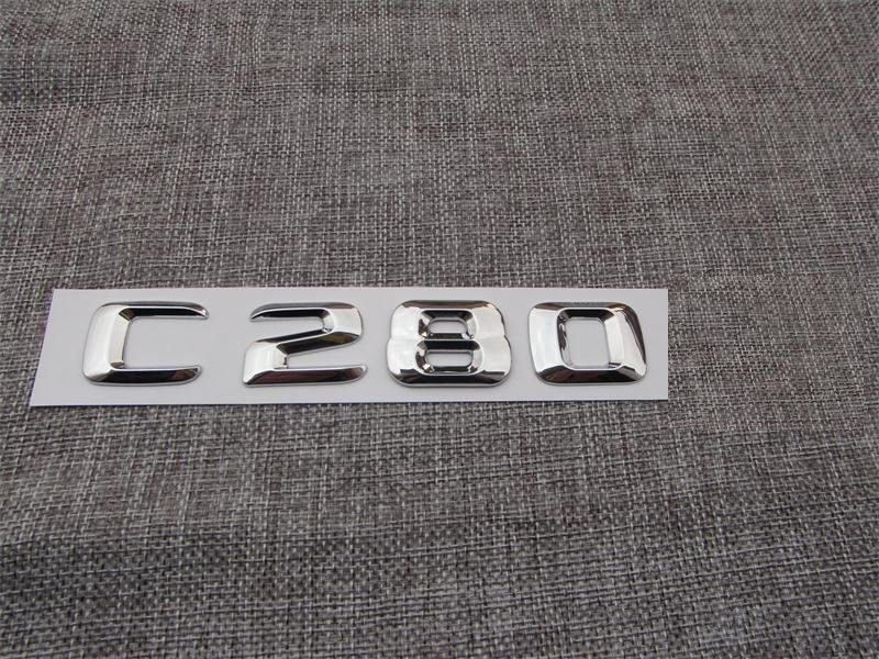 Chrome Number Letters Trunk Emblem Badge Sticker for Mercedes Benz C Class C280