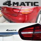 Matte Black 4 MATIC Letters Trunk Emblem Badge Sticker for Mercedes Benz 4MATIC