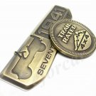 Metal Bronze 75 Years 1941 Car Emblems Decal Badge Jeep Wrangler Compass Willys