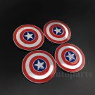 4pcs Metal Captain America Shield Car Trunk Emblem Badge Decal Sticker