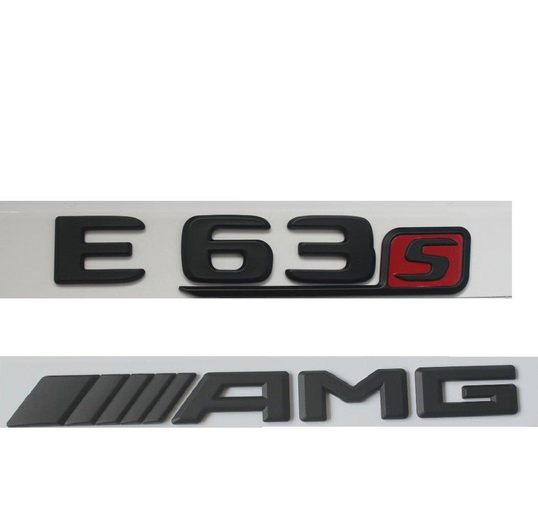 Flat Black Letters Trunk Badge Emblem Emblems for Mercedes Benz E63 S AMG 2017+