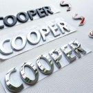 Metal Cooper Red S Letter Rear Trunk Lip Hatch Emblem Badges Decal for BMW MINI