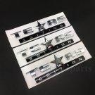 3pcs Texas Edition Star Flag Car Auto Body Side Emblems Badge Decal Sticker ABS
