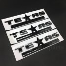 3pcs Black Texas Edition Star Flag Car Body Side Emblem Badge Decal Sticker ABS