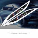 2X Auto Car Metal Knife Badge Emblem Decal Sticker For Black PEUGEOT Sport Gift