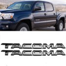 "(Two) 11.75"""" x 1"""" Gloss 3D Black Emblem Decal Badge Sticker Nameplate For Tacoma"