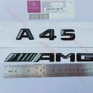 Gloss Black 3D Number Letters Rear Trunk Badge Emblem for Mercedes Benz A45 AMG