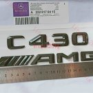 Gloss Black 3D Number Letters Rear Trunk Badge Emblem for Mercedes Benz C430 AMG