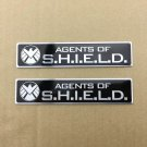 2x Agents of shield Aluminum Badge Emblem Stickers Auto Car Motorcycle Tailgate