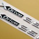 2pcs XDrive 25i Letter Trunk Fender Side Emblem Badge Sticker for BMW SUV Models