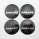 4x Hamann Wheel Center Hub Cap Badge Emblem Sticker Auto Trunk Rear Tailgate