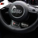 Carbon Fiber Audi Steering Wheel Logo Decal Badge Sticker Emblem Decoration