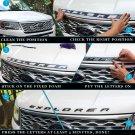 Chrome Silver 3D Front Hood Emblem Sticker Fit 11 - 16 Ford Explorer Sport SUV