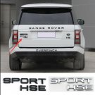 Auto 3D SPORT HSE Luxury Tailgate Badge Emblem Plate for Land Rover Range Rover