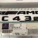 "Matt black """"s C43 + AMG s"""" Letters Trunk Emblem Badge Sticker for Mercedes Benz"
