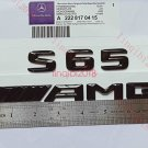 Gloss Black 3D Number Letters Rear Trunk Badge Emblem for Mercedes Benz S65 AMG