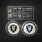 4pcs For The Alliance Emblem Car Decal Sticker Badges World of Warcraft WOW