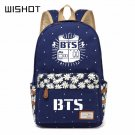 NEW Bangtan Boys BTS  backpack Canvas bag Flower wave point Rucksacks  Girls
