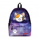NEW Cartoon Cat  Backpack unicorn cute lovely Cheese cat Galaxy School Bags