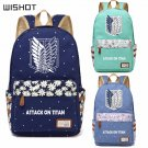 NEW Anime Attack on Titan Canvas bag Flower wave point backpack for teenagers
