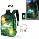 NEW Luminous  Fortnite   Backpack Multifunction USB Charging Waterproof Anti