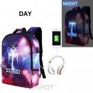 NEW Luminous Marilyn Manson Backpack Multifunction USB Charging Waterproof An