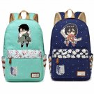 NEW Anime Attack on Titan Eren Mikasa  Backpack For Women Girls Cute Canvas b