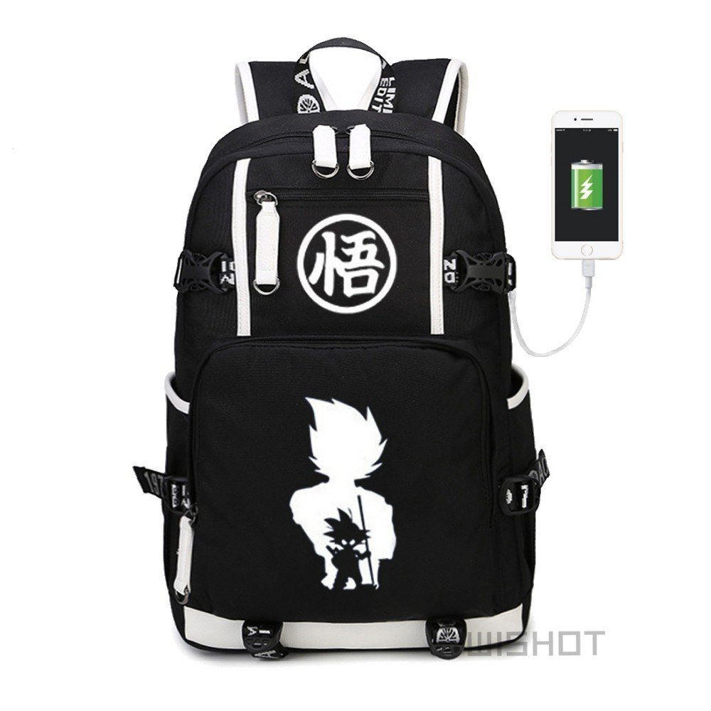 NEW  Dragon Ball  multifunction USB charging Backpack Canvas bag Men women  S