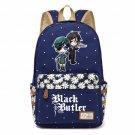 NEW Anime Black Butler Canvas bag Flowers wave point Rucksacks backpack Girls