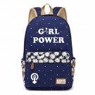 NEW Girl Power FEMINIST Canvas bag Flower backpack  Girls women Student Chil