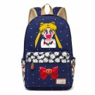 NEW Cat Backpack For Women Girls Cute Cat Sailor Moon Canvas bag Flowers wave