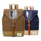 NEW  Anime Attack on Titan casual backpack Canvas bag  bookbag  travel Should