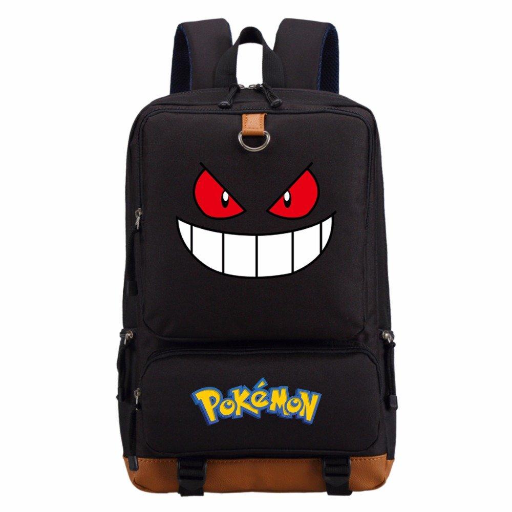 """NEW Cute Gengar Pikachu Charmander Squirtle backpack teenagers Men women""""""""s St"""