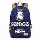 NEW meow lovely cute cat Canvas bag Flower wave point Rucksacks backpack Girl