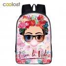 Frida kahlo / Monroe / Hepburn Backpack for Teenage Girls School Bags 2018 Women