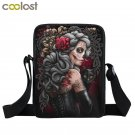 Dark Gothic Bag Girls Boys Mini Messenger Bag Punk Women Handbags Grim Reaper Te