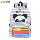 2018 Newly Panda Backpack for Teenager Girls Laptop mochila feminina Unicorn Col