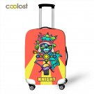 Knight Dancer Singer Luggage Cover for 18-28 Inch Bag Cover Skull Motorcycle Tro