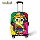 Cartoon Owl Trolley Case Cover for Suitcase 18-30 Inch Girls Cover Elastic Lugga